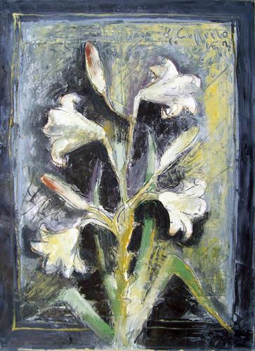 Quadro di Emanuele Cappello Fiori - olio tela