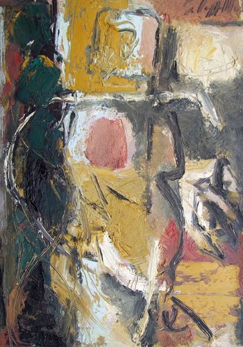 Quadro di Emanuele Cappello Figura informale - olio tela