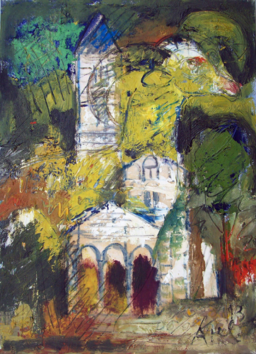 Art work by  Kapel (Cappello) Chiesa - oil canvas