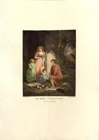 Quadro di firma Illeggibile - Les Petits Cochons litografia carta