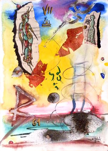 Quadro di Massimo Podestà Nel segno della bilancia - Pittori contemporanei galleria Firenze Art