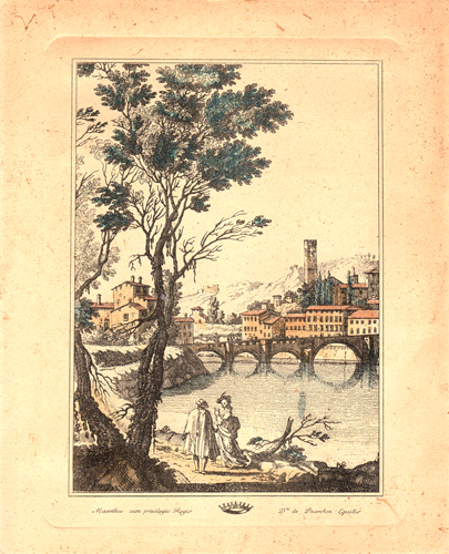 Art work by  Antiquariato Scorcio paesaggistico - lithography paper