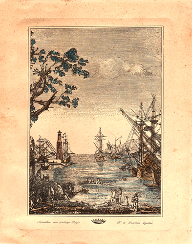 Art work by  Antiquariato Navi al porto - lithography paper