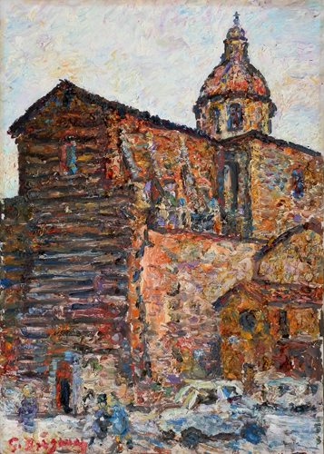 Quadro di Guido Borgianni Chiesa di San Frediano in Cestello - olio tela