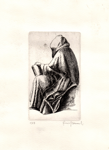 Art work by firma Illeggibile Figura - lithography paper