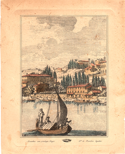 Art work by  Antiquariato Paesaggio costiero - lithography paper