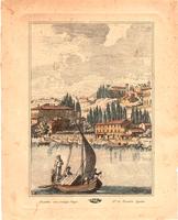Quadro di  Antiquariato - Paesaggio costiero litografia carta