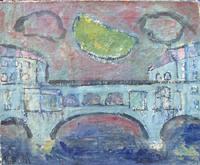Quadro di Roberto Panichi - Ponte Vecchio olio tela