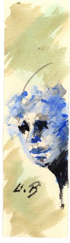 Quadro di Umberto Bianchini Volto - tempera carta