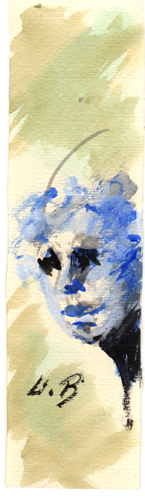 Quadro di Umberto Bianchini Volto, tempera su carta 20 x 5 | FirenzeArt Galleria d'arte