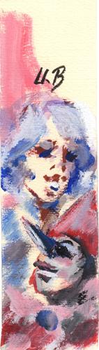 Quadro di Umberto Bianchini Lei, tempera su carta 20 x 5 | FirenzeArt Galleria d'arte