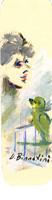 Quadro di Umberto Bianchini  Interno con pappagallo