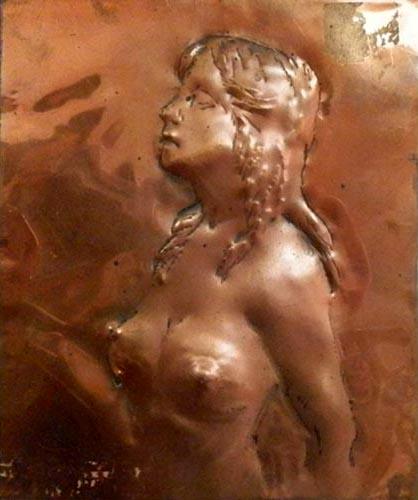 Quadro di Luigi Pignataro Nudo - scultura rame
