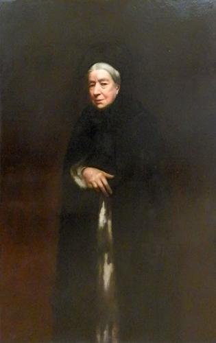 Art work by  Antiquariato Figura di donna ottocentesca - oil canvas