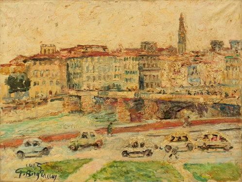 Art work by Guido Borgianni Lungarno e Ponte alle Grazie - oil canvas