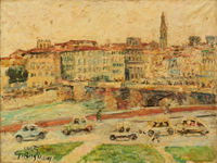 Work of Guido Borgianni  Lungarno e Ponte alle Grazie