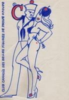 Quadro di Claude Falbriard  Club Cannois des belles figures de proue