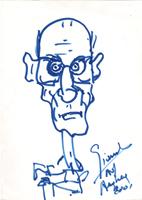 Quadro di Carlo Giannitrapani - Indro Montanelli pennarello carta