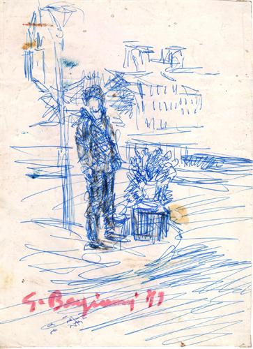 Quadro di Guido Borgianni Figura - penna biro carta