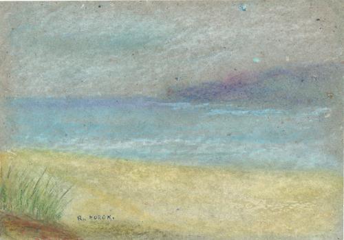 Quadro di Renzo Moroni Le Spiagge Bianche - pastello carta