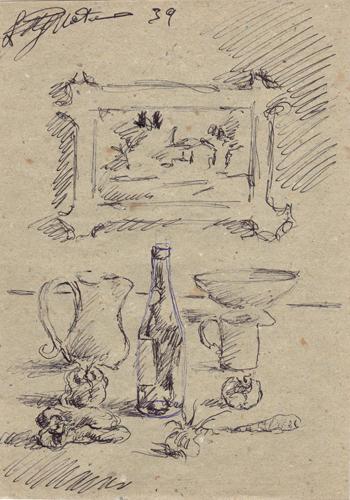 Quadro di Luigi Pignataro Composizione - penna biro carta