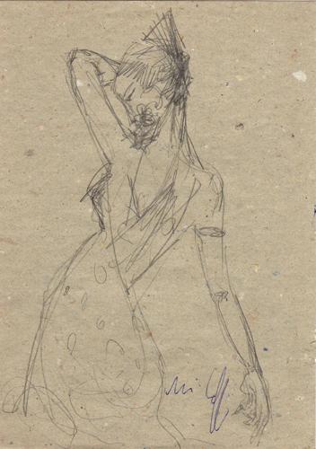 Quadro di Emanuele Cappello Figura - lapis carta