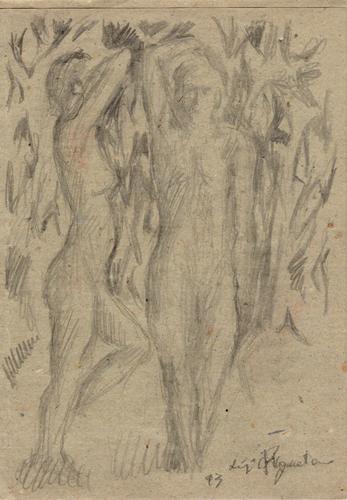 Art work by Luigi Pignataro Figure - lapis paper