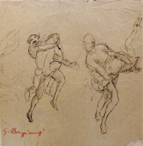 Quadro di Guido Borgianni Lotta - Pittori contemporanei galleria Firenze Art