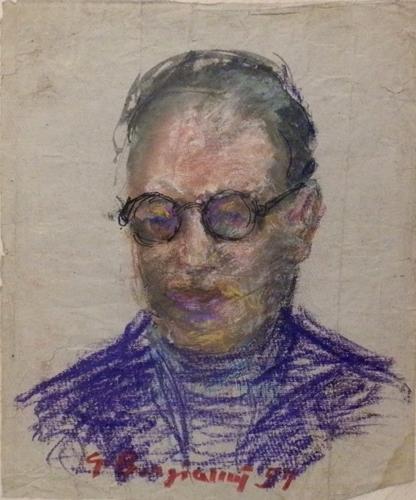 Quadro di Guido Borgianni Ritratto - pastello carta