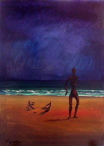 Quadro di Luigi Pignataro Sogno sul mare - acrilico tela