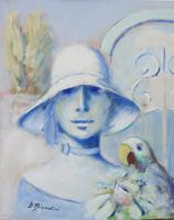 Umberto Bianchini - Figura con pappagallo