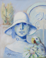Work of Umberto Bianchini  Figura con pappagallo