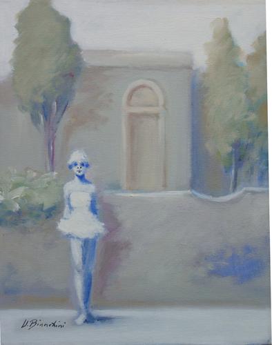 Art work by Umberto Bianchini Fuori scena - oil canvas