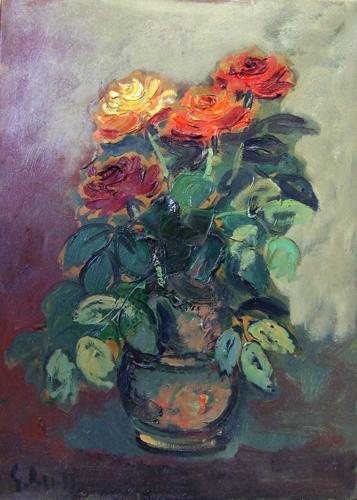 Quadro di Emanuele Cappello Rose - olio tela