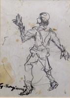 Quadro di Guido Borgianni - Figura carboncino carta