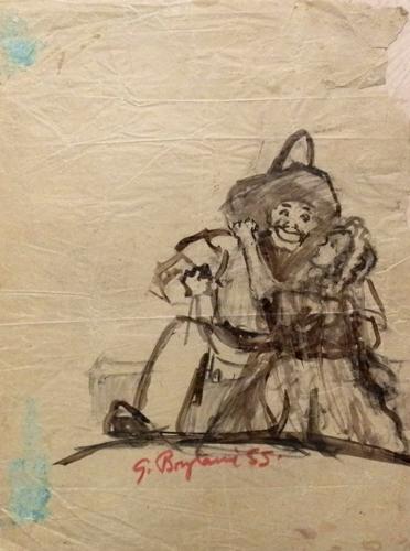 Quadro di Guido Borgianni Figure - china carta