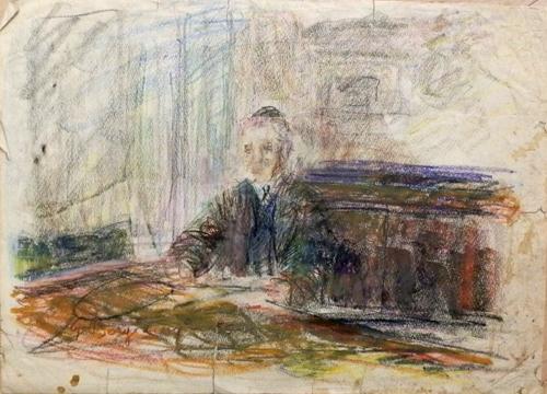 Quadro di Guido Borgianni Notaio - pastello carta