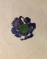 Quadro di firma Illeggibile - Fiore acquerello carta