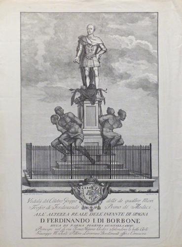 Quadro di  Antiquariato Monumento dei quattro mori a Livorno - stampa carta