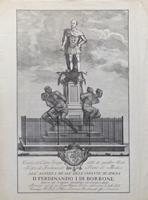 Quadro di  Antiquariato - Monumento dei quattro mori a Livorno stampa carta