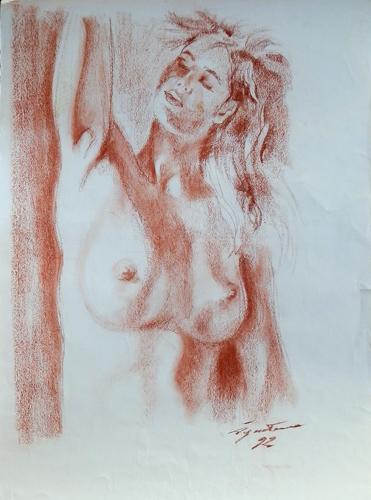 Quadro di Luigi Pignataro Nudo - sanguigna carta