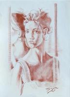 Work of Luigi Pignataro  Ritratto di donna