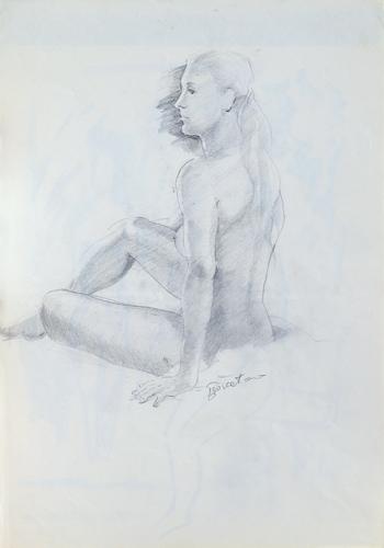 Quadro di Luigi Pignataro Studio di nudo - lapis carta
