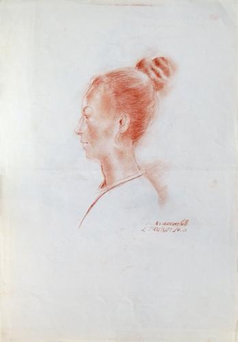 Quadro di Luigi Pignataro Acconciatura  - Pittori contemporanei galleria Firenze Art