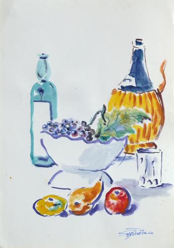 Art work by Luigi Pignataro Composizione - watercolor paper