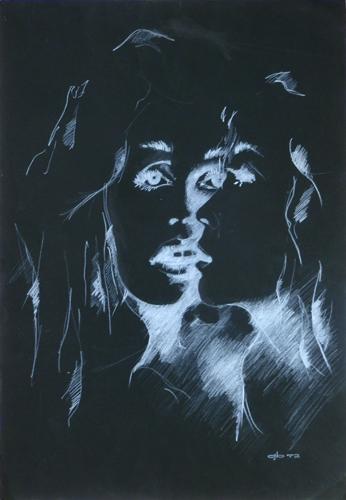 Art work by firma Illeggibile Specchio - matita paper
