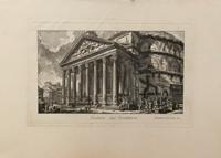 Quadro di  Antiquariato - Veduta del Pantheon litografia carta