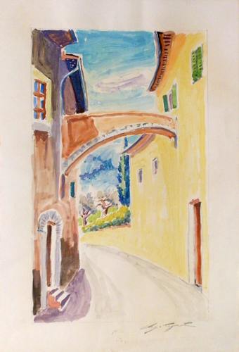 Art work by Luigi Pignataro Scorcio cittadino - watercolor paper