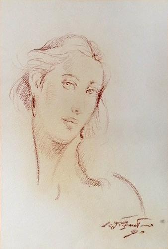 Quadro di Luigi Pignataro Ritratto - Pittori contemporanei galleria Firenze Art