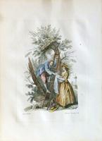 Quadro di  Antiquariato - Madame litografia carta